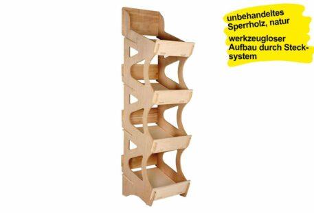 Verkaufsregal Holz SUEZ - L
