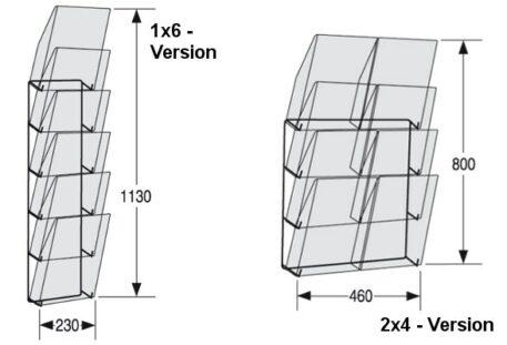 Wandprospekthalter A4 LINE Masse