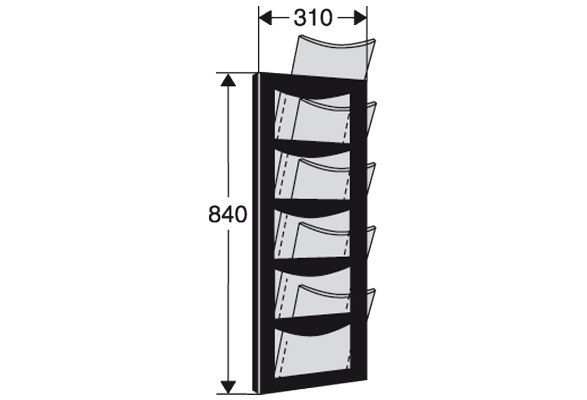 Wandprospekthalter A4 VIENNA Masse
