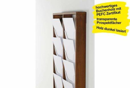 Wandprospekthalter Holz A4 BRANCH - Gestell