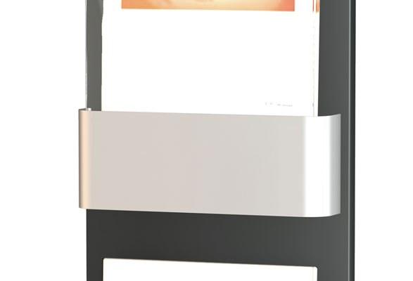 Wandprospekthalter SHINE - Infoschild