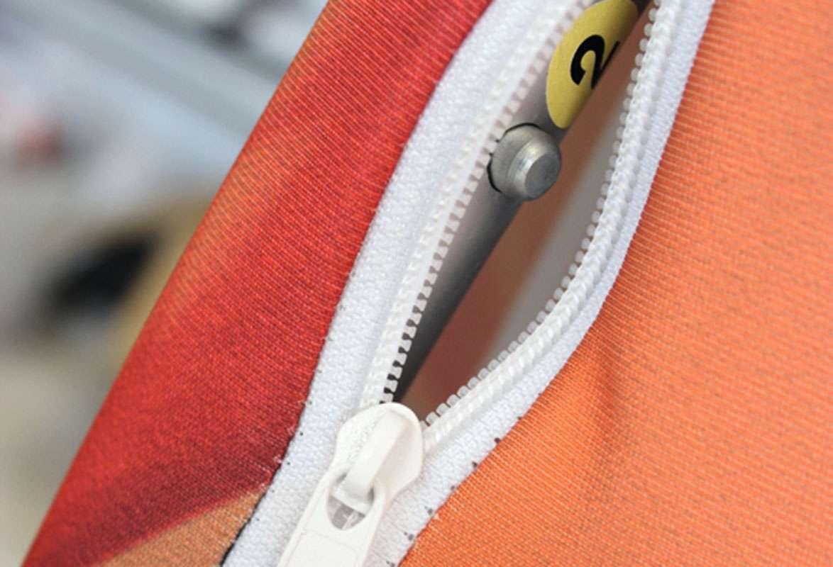 Werbewand wellenförmig QUADRANT - Textilstoff